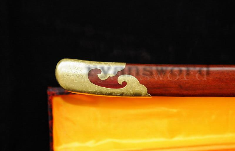 Handmade Damascus Sanmai Clay Tempered Chinese Broad Sword Qing Dao