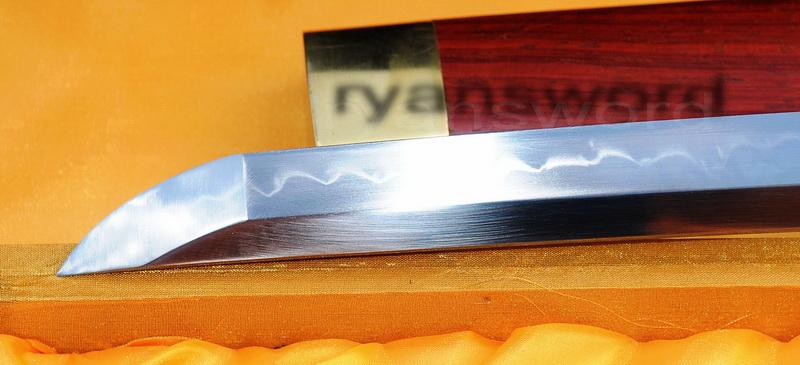 Hand Forged 1095 Carbon Steel Clay Tempered Japanese Samurai Shirasaya Sowrd
