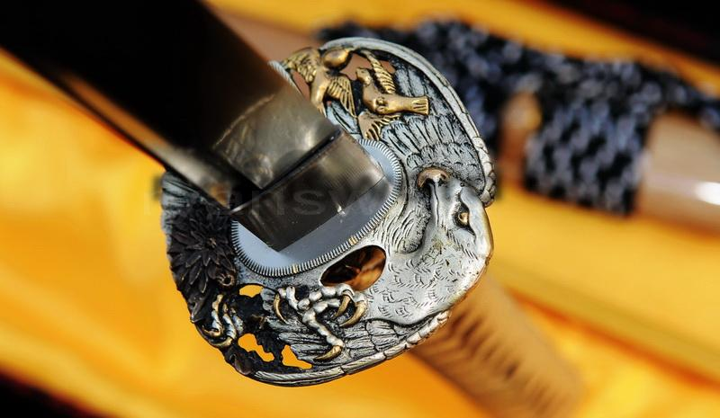 Folded Steel Japanese Samurai Full Tang Katana Swordr