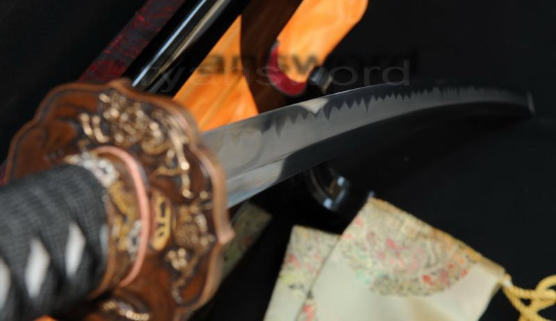 High Quality 1095 High Carbon Steel Clay Tempered+Abrasive Japanese Katana Sword