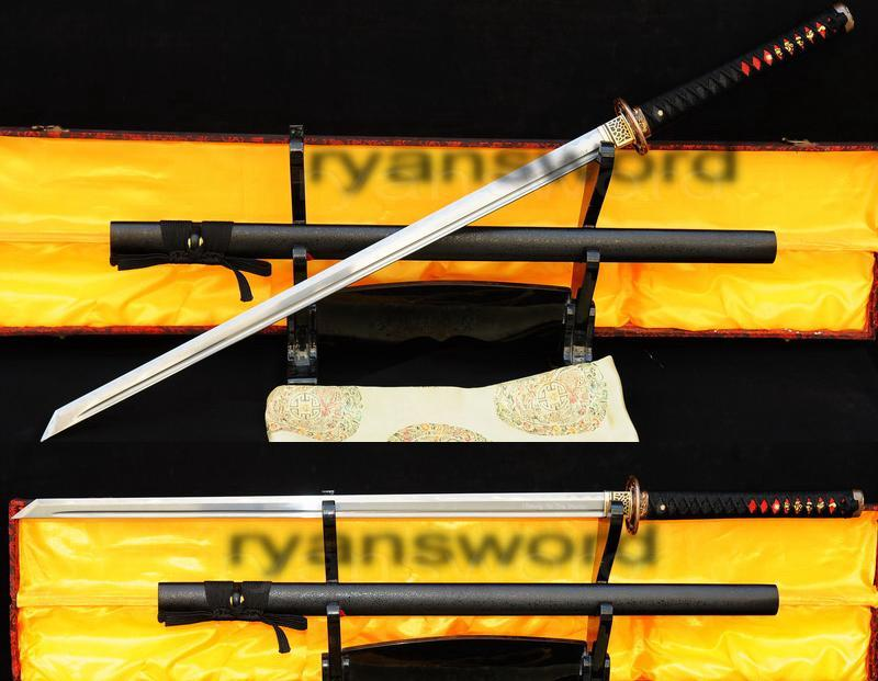 High Quality 1095carbon Steel Folded Steel Japanese Samurai Ninja Sword