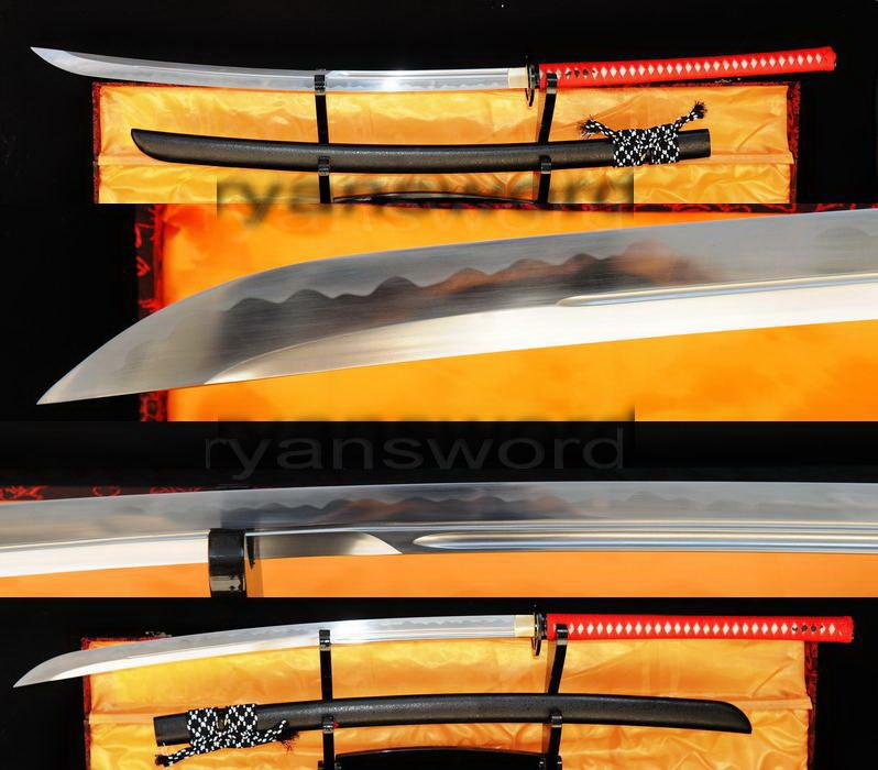 High Quality 1095 Carbon Steel Horn Saya Japanese Samurai Naginata Sword