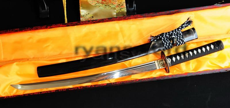 High Quality Clay Tempered 1095 Carbon Steel Japanese Samurai Wakizashi Sword