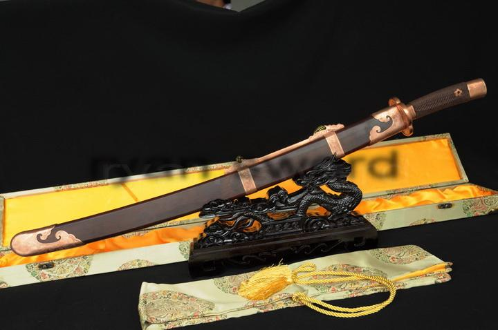 High Quality Folded Steel+1095 Carbon Steel Sanmai Chinese(Qing)Sword