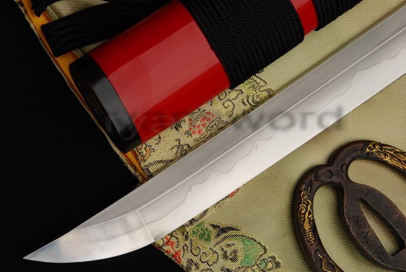 High Quality 1095 Carbon Steel Clay Tempered+Abrasive Horn Saya Japanese Samurai Katana Sword
