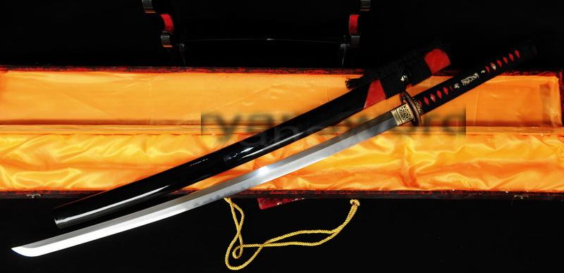 High Quality Combined Material Clay Tempered+Abrasive Japanese Katana Sword
