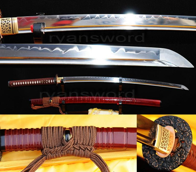 1095 High Carbon Steel Clay Tempered Japanese Samurai Katana Sword