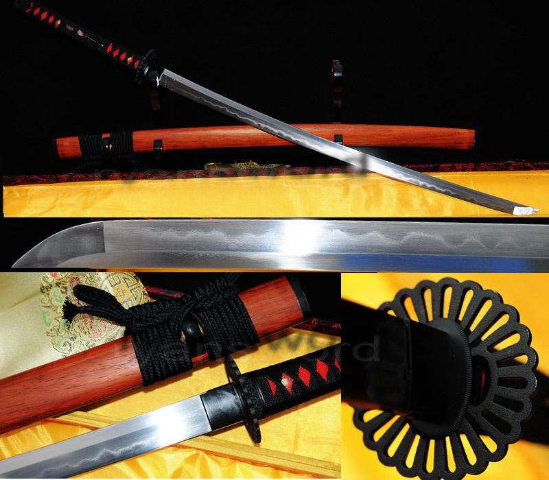 High Quality Clay Tempered 1095 Carbon Steel+Folded Steel Japanese Katana Sword