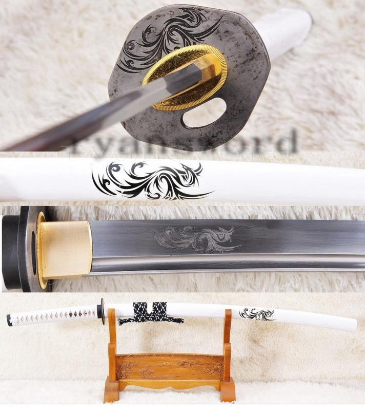 High Quality Folded Steel Japanese Samurai Katana The Dargon Sword