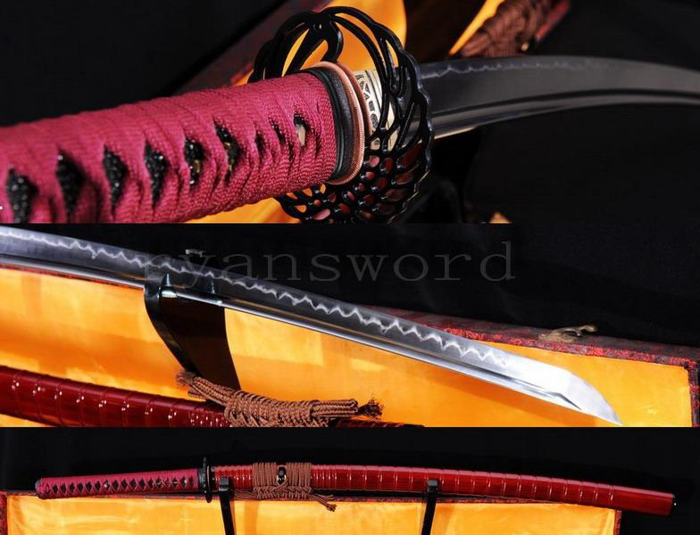 High Quality 1095 High Carbon Steel Clay Tempered Japanese Samurai Katana Sword