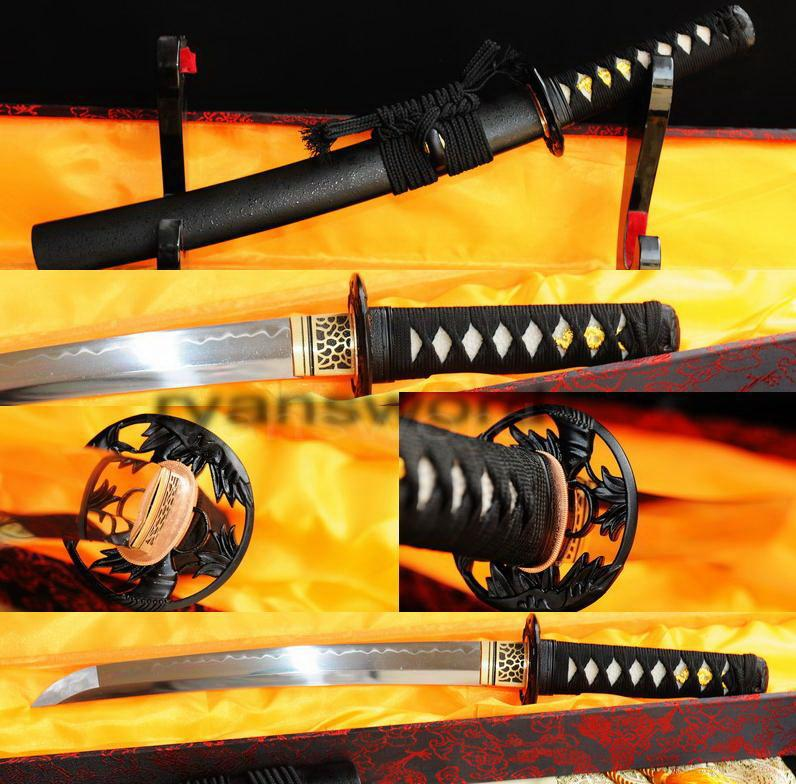 High Quality Clay Tempered 1095 Carbon Steel Japanese Samurai Tanto Sword