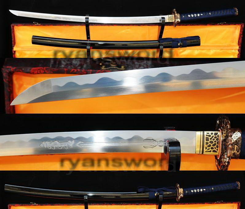 High Quality Sanmai 1095 Carbon Steel+Folded Steel Japanese Samurai Katana Sword