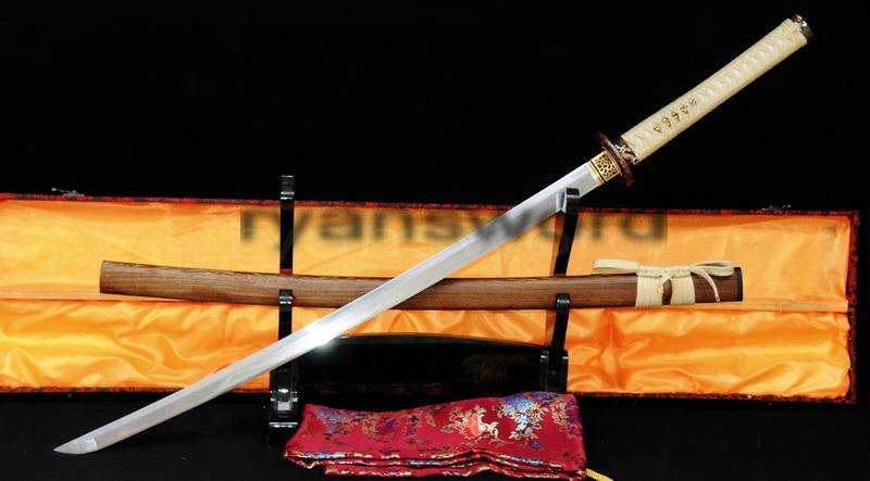High Quality 1095 Carbon Steel+Folded Steel Japanese Samurai Katana Sword