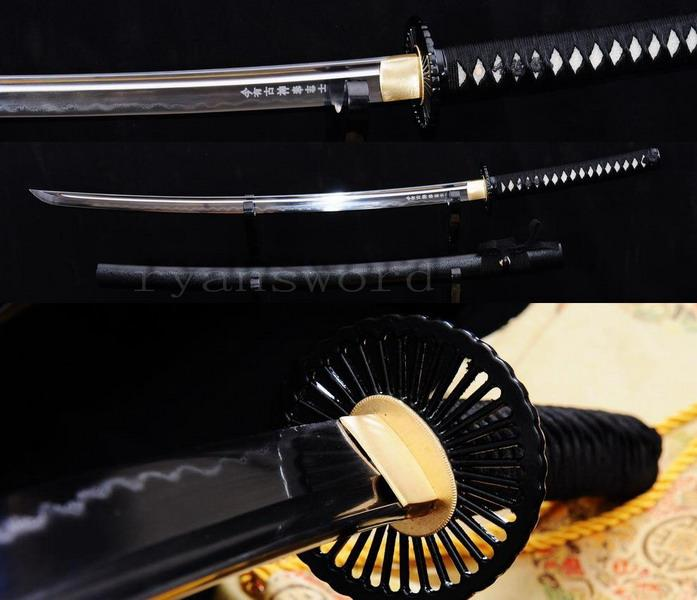High Quality Clay Tempered Honsanmai Japanese Samurai Sword Katana