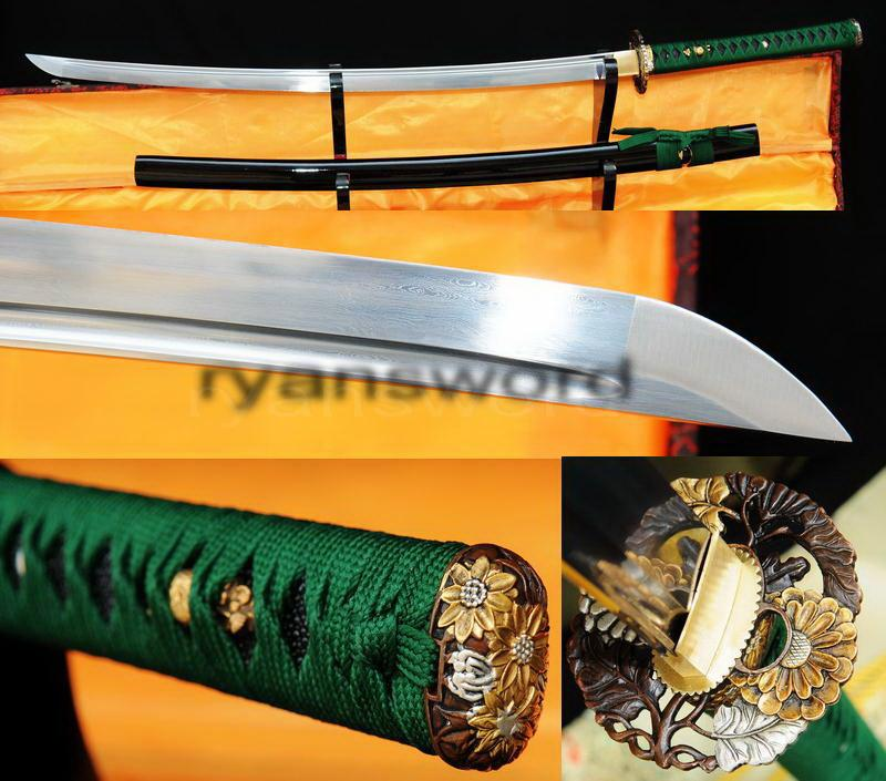 Hand Made Damascus Folded Steel Japanese Samurai Katana Sword