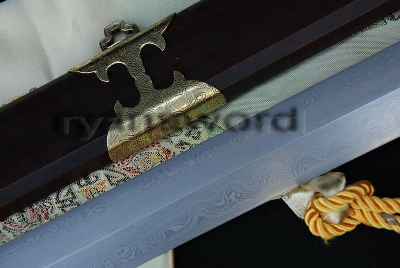 High Quality Folded Steel 1095 Carbon Steel Sanmai Chinese Sword
