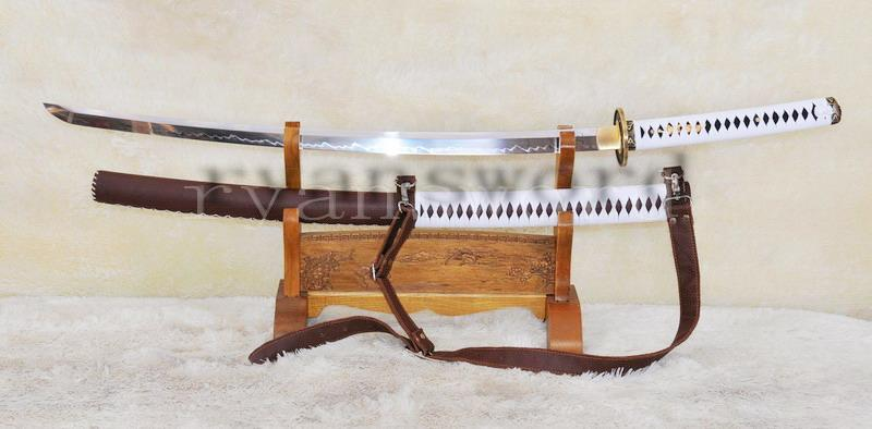 High Quality Handmade Clay Tempered Walking Dead Sword-Michonne'S Sword Katana