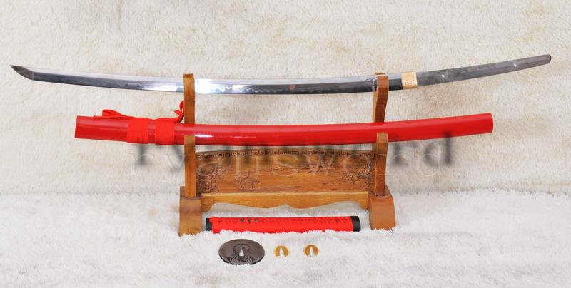 High Quality High Carbon Steel Clay Tempered Japanese Samurai Katana Scorpion Sword