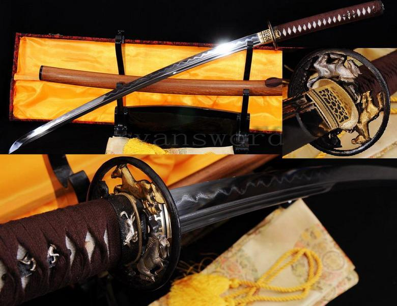High Quality Honsanmai Clay Tempered Japanese Samurai Sword Katana