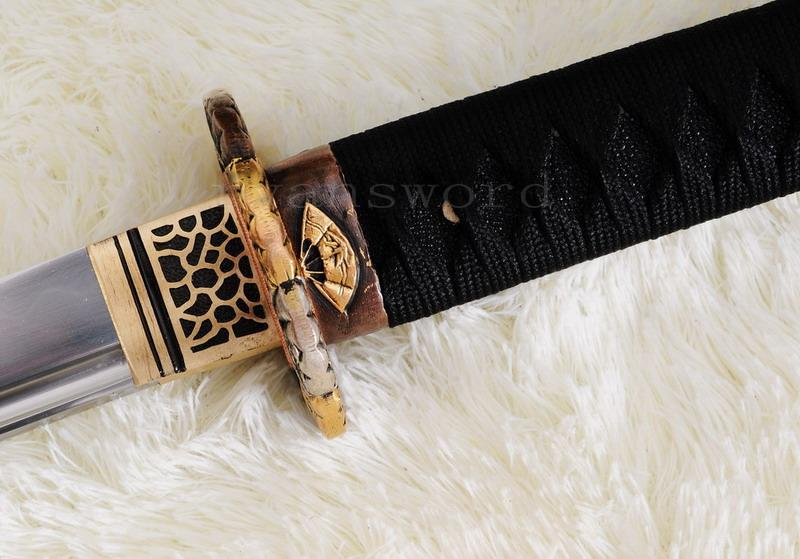 High Quality 1095 Carbon Steel Clay Tempered Shell Saya Japanese Samurai Katana Sword
