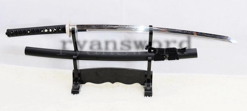 High Quality 1095 Steel Clay Tempered Maru Japanese Samurai Sword Katana