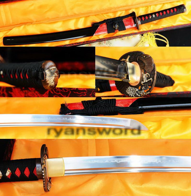 High Quality 1095 Carbon Steel Clay Tempered Japanese Samurai Wakizashi Sword