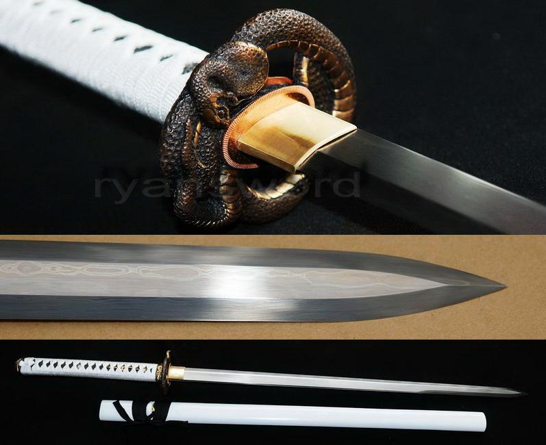 High Quality 1095 Carbon Cteel+Folded Steel Japanese Ninja Sword