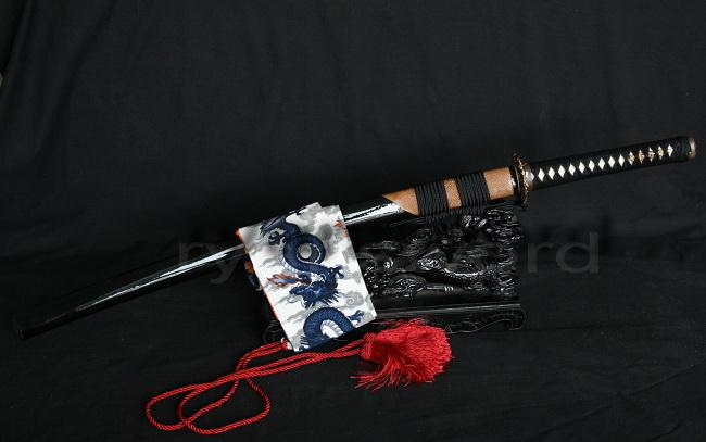 High Quality 1095 Carbon Steel Clay Tempered Ray Skin Saya Japanese Samurai Katana Sowrd