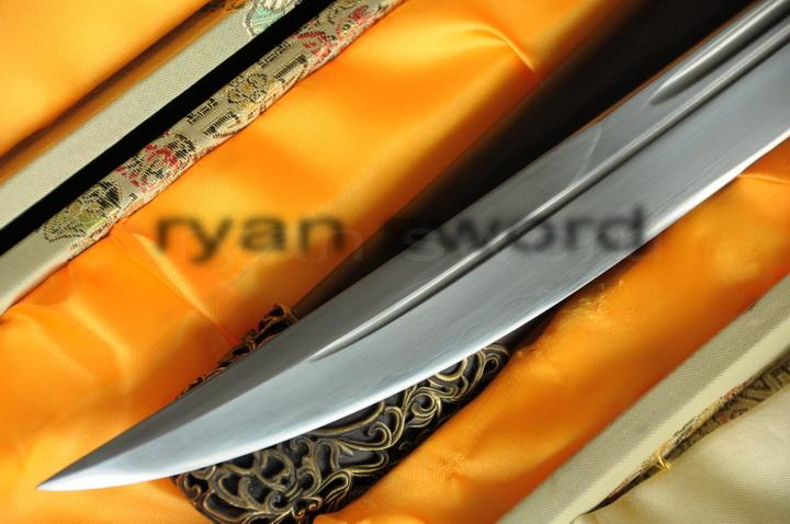 High Quality Sanmai Folded Steel+1095 Carbon Steel Chinese(Qing)Sword